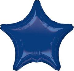 Star 25 Navy Blue Mylar Balloon 18in
