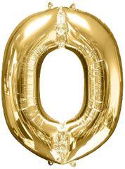 "Gold Letter O - 34"" Mylar Balloon"