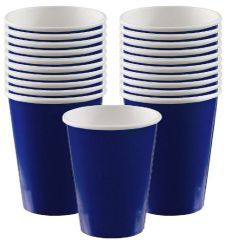 Navy Flag Blue Paper Cups, 9oz - 20ct