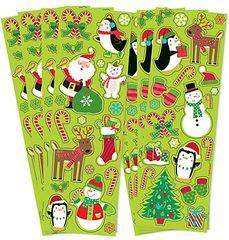 Christmas Fun Printed Paper Strip Stickers