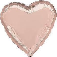 Heart 05 Rose Gold Mylar Balloon 18in