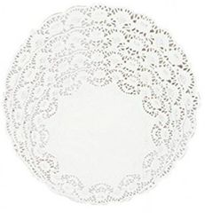 """White Round Doilies Assorted Sizes 5"""", 6"""", 8"""", 10, 32ct"""