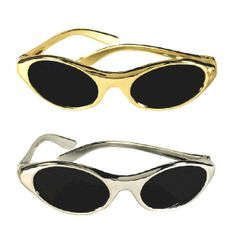 Silver & Gold Oval Glasses