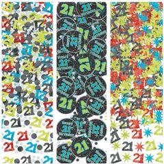 21st Brilliant Birthday Confetti