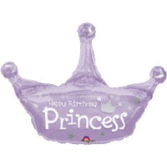 Birthday Princess Crown Super Shape Balloon 34""