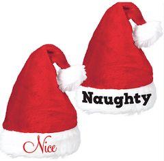 Naughty & Nice Santa Hat Set