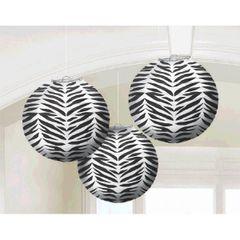 Zebra Round Paper Lanterns