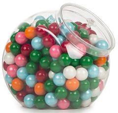 CLEAR Plastic Candy Jar w/ Lid