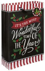 Most Wonderful Time X-Large Vertical Bag w/ Gift Tag