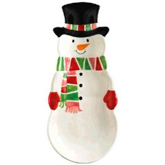Snowman Cracker Tray