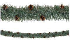 Pine Needle Boa w/Real Pine Cones Tinsel Garland