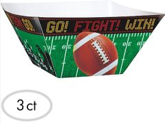 Football Square Paper Bowls, 3ct