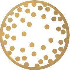 Gold Polka Dot Coasters, 18ct