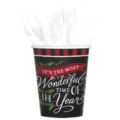 Most Wonderful Time Cups, 9 oz.