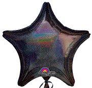Dazzler Star 01 Black Mylar Balloon