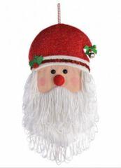 Santa Head Plush Door Hanger