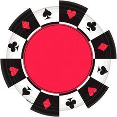 Casino Round Plates 7in