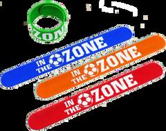 """""""IN THE ZONE"""" Soccer Slap Bracelet"""