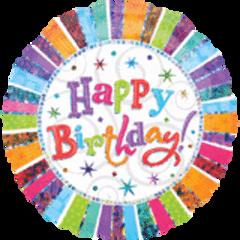 "Radiant Happy Birthday Super Shape Balloon 32"""