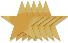 "Gold Foil 9"" Star Cutouts, 5ct"