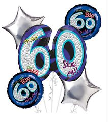 Oh No It's My 60th Birthday Balloon Bouquet 26""