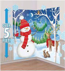 Winter Friends Mega Value Scene Setters Wall Decorating Kit