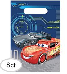 ©DISNEY CARS 3 Folded Loot Bags, 8ct