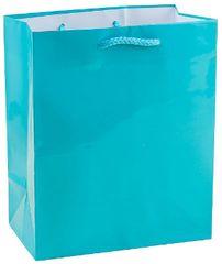 Caribbean Blue Glossy Gift Bag