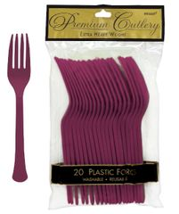 Berry Premium Heavy Weight Plastic Forks 20ct