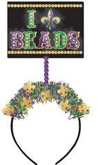 Light-Up Mardi Gras Beads Head Bopper