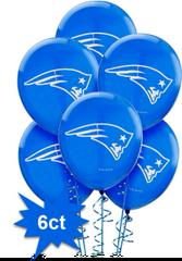 New England Patriots Latex Balloons, 6ct