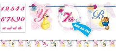 ©Disney Beauty And The Beast Ribbon Letter Banner