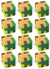 TNT Party! Puzzle Cube Erasers