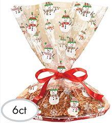 Snowman Cookie Tray Cello Bag