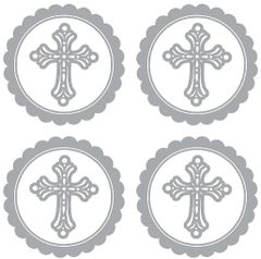 Silver Religious Sticker Labels, 20ct
