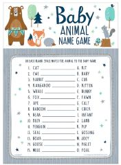 Bear-ly Wait Baby Animal Name Game, 24ct