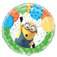 Despicable Me Mylar with Balloons 18in