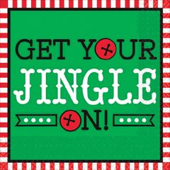Get Your Jingle On Beverage Napkins