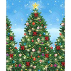 Evergreen Christmas Scene Setters Plastic Room Rolls