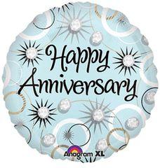 "Happy Anniversary Diamonds Balloon 18"""