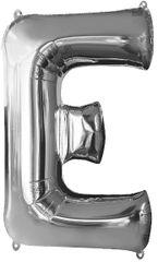 "Silver Letter E - 34"" Mylar Balloon"