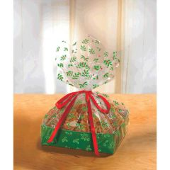 Holly Large Treat Tray w/ Cello Bag