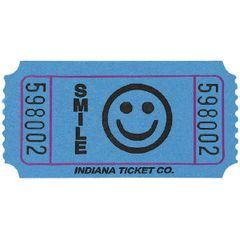 Blue Smiley Ticket Roll