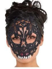 Black And Bone Black Lace Skull Mask