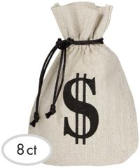 Burlap Money Bags Favor Bags, 8ct