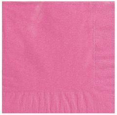 Big Party Pack Bright Pink Beverage Napkins, 125ct