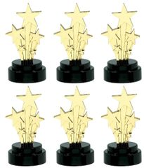 Hollywood Star Trophies, 6ct