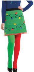 Christmas Lights On Ugly Sweater Skirt