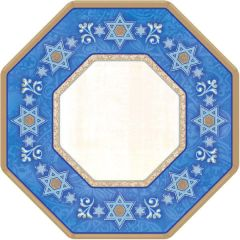 Judaic Traditions Octagonal Plates, 7""