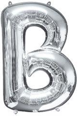 "Silver Letter B - 34"" Mylar Balloon"